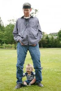 Scott Brodie and grandson Brodie