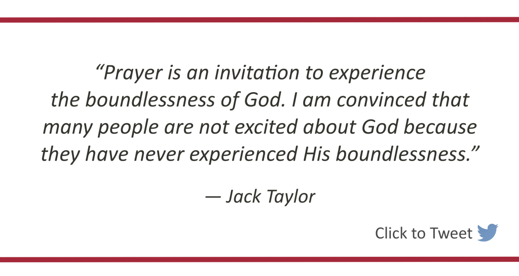 Prayer is an Invitation to Experience God's Boundlessness